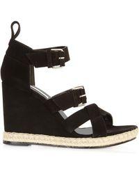 Balenciaga Multi-strap Espadrille Wedge Sandals - Lyst