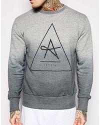 Antioch Sweatshirt In Dip Dye - Grey