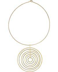 Michael Kors - Statement Pave-Disc Pendant Necklace - Lyst