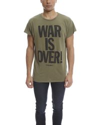 Madeworn Rock - Madeworn John Lennon War Is Over Army Tee - Lyst