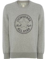 Converse Stitched Logo Sweatshirt - Lyst