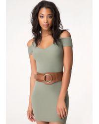 Bebe - Leather Hip Belt - Lyst