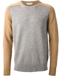 Marc Jacobs Gray Bicolour Sweater - Lyst
