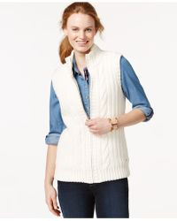 Tommy Hilfiger Cable-knit Sweater Vest - White