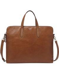 Fossil Sydney Leather Work Bag - Lyst