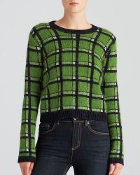 Marc By Marc Jacobs Prudence Rib-Trim Metallic Plaid Sweater - Lyst