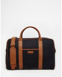 Barneys Originals - Barneys Canvas And Leather Holdall - Lyst