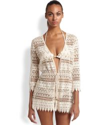 Melissa Odabash Crocheted Lace Cover Up - Lyst