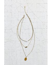 Urban Outfitters For Keeps Crystal Layering Necklace - Lyst