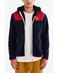 Chums Fleece Elmo Hooded Jacket - Blue