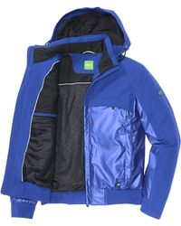 BOSS Green Outdoor Jacket 'Jamuro' With Removable Hood - Blue