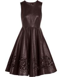 Dolce & Gabbana Cutout Leather Dress - Lyst