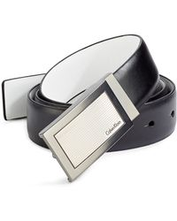 CALVIN KLEIN 205W39NYC - Reversible Plaque Buckle Leather Belt - Lyst