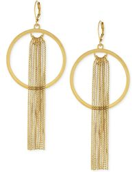 Vince Camuto - Gold-tone Open-disc Fringe Drop Earrings - Lyst