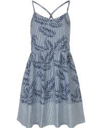 Topshop Moto Tropical Print Dress - Lyst