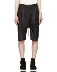Attachment - Black Satin Drawstring Shorts - Lyst