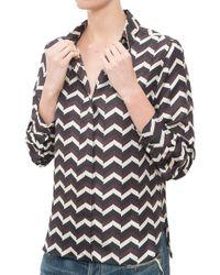 Rag & Bone Faye Shirt beige - Lyst