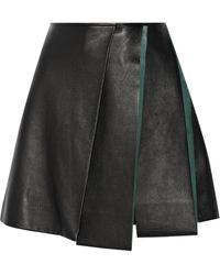 Vionnet Layered Leather Mini Skirt - Lyst
