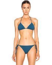 Mara Hoffman Triangle Bikini Top - Lyst
