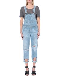 Citizens of Humanity Quincy Distressed Denim Overalls - For Women - Lyst