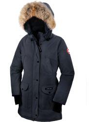Canada Goose vest online cheap - Canada goose Trillium Fur-hood Parka Jacket in Black (BLACK 61) | Lyst