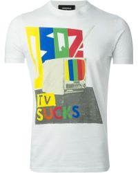 DSquared2 Tv Sucks T-shirt - Lyst
