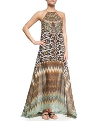 Camilla Sheer-Hem Printed Maxi Dress multicolor - Lyst