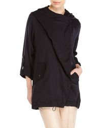 Vince Camuto Asymmetrical Hooded Multi-Way Jacket - Lyst