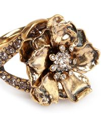 Alexander McQueen | Swarovski Crystal Floral Ring | Lyst