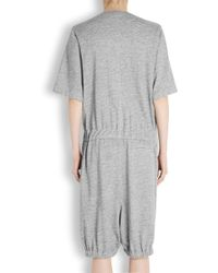 Public School - Grey Mélange Cotton Blend Playsuit - Lyst