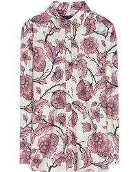 Burberry Prorsum Cotton and Silk Blend Shirt - Lyst