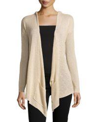 La Fee Verte - Slub-knit Hooded Open Cardigan - Lyst