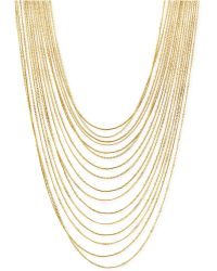 Vince Camuto - Gold-tone Multi-row Layered Chain Necklace - Lyst