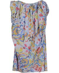 Vivienne Westwood Anglomania Short Dress blue - Lyst