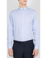 Sandro Caliente Solid Button Down Shirt - Slim Fit - Lyst