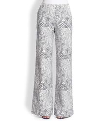 Etro Paisley-Print Wide-Leg Pants - Lyst