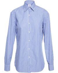 Stella Jean Striped Cotton Shirt - Lyst