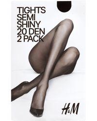 H&M 2-Pack Tights, 20 Denier - Black