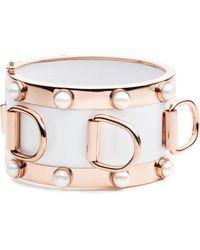 Eddie Borgo - D-ring Pearl Cuff Bracelet - Lyst