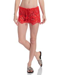 Miguelina Minnie Lace Shorts - Lyst