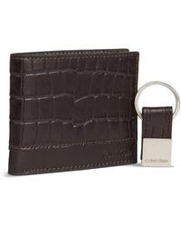 CALVIN KLEIN 205W39NYC - Leather Bill Fold And Key Fob Set - Lyst