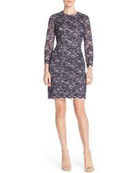 Maia - Layered Lace Sheath Dress - Lyst