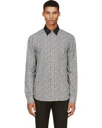 Costume National Black and Grey Ink Spot Shirt - Lyst