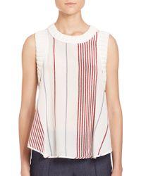 Elizabeth and James | Blanket-striped Blouse | Lyst