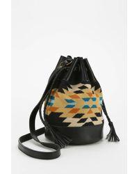 Pendleton - Blanket-Inset Small Bucket Bag - Lyst