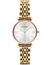 Emporio Armani Round Link Watch, 32Mm - Lyst