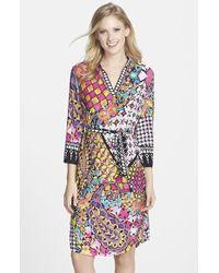 Eci Mixed Print Jersey Tie Waist Shift Dress - Lyst