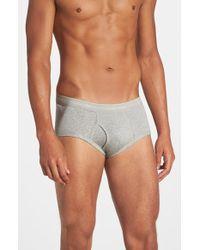 Calvin Klein Cotton Briefs, (4-Pack) gray - Lyst