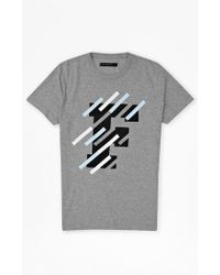 French Connection F Tape Marlon T-Shirt gray - Lyst