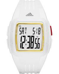 adidas Originals - Duramo White And Gold Small Polyurethane Watch - Lyst